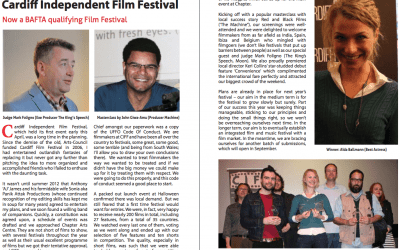 """Aïda Ballmann receives the award as best actress for """"The extraordinary tale"""" in Cardiff at Universal film magazine"""